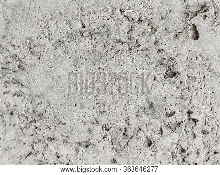 Gray Concrete Texture With Rough Surface And Holes