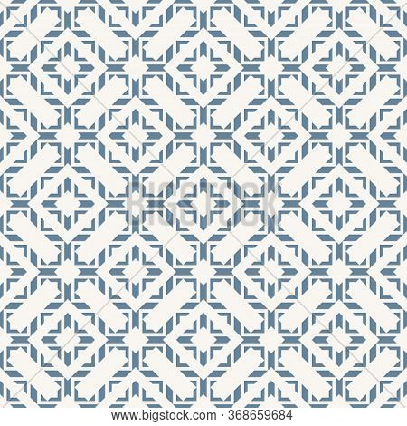 Vector Abstract Geometric Seamless Pattern In Oriental Style. Elegant Asian Ornament. Luxury Graphic