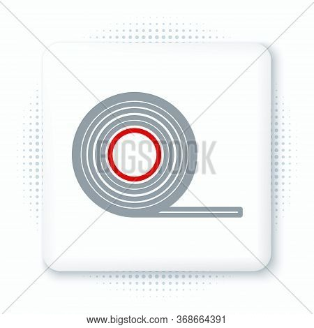 Line Scotch Icon Isolated On White Background. Roll Of Adhesive Tape For Work And Repair. Sticky Pac