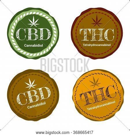 Vector Design Health And Medical Concept 4 Of Icon Or Logo For  Cbd Cannabinoids And Thc Tetrahydroc