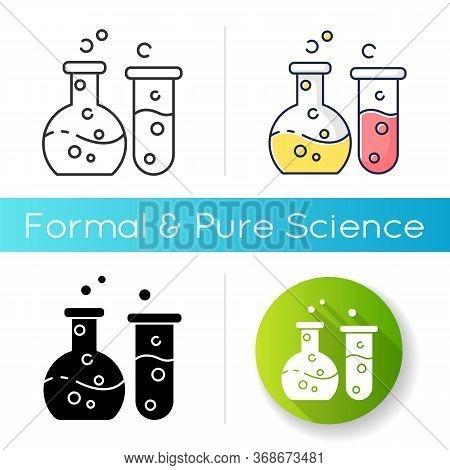 Chemistry Icon. Fundamental Science, Natural Scientific Discipline. Biochemistry, Chemical Analysis.