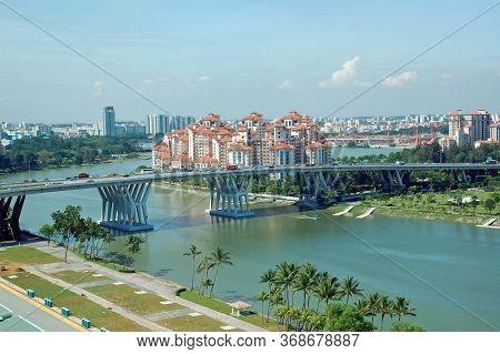 Singapore - Apr 4 - Tanjong Rhu Condominium Facade On April 4, 2012 In Singapore.