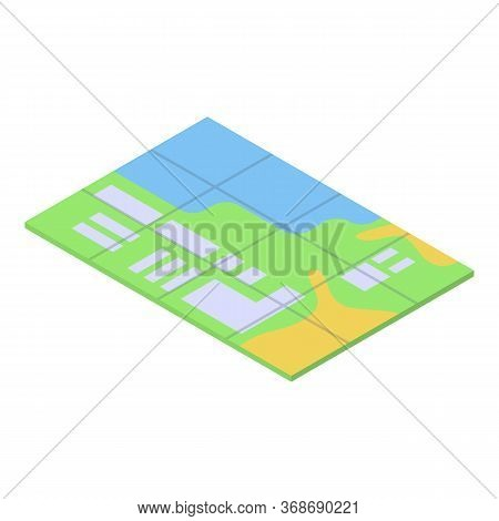 Excursion City Map Icon. Isometric Of Excursion City Map Vector Icon For Web Design Isolated On Whit