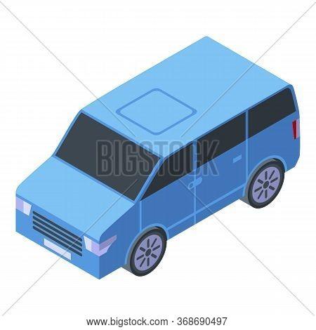 Travel Mini Van Icon. Isometric Of Travel Mini Van Vector Icon For Web Design Isolated On White Back