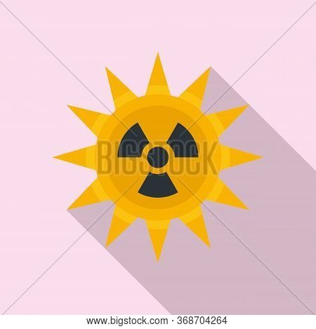 Sun Radiation Icon. Flat Illustration Of Sun Radiation Vector Icon For Web Design