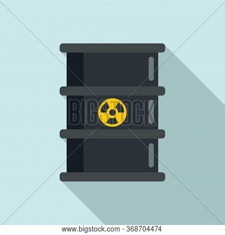 Radiation Barrel Icon. Flat Illustration Of Radiation Barrel Vector Icon For Web Design