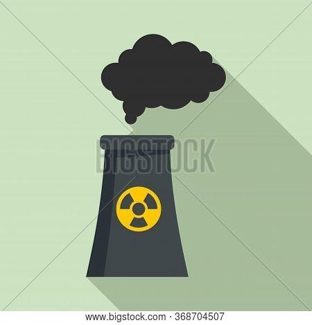 Radiation Smoking Plant Icon. Flat Illustration Of Radiation Smoking Plant Vector Icon For Web Desig