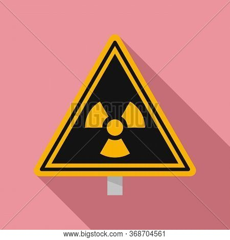 Danger Zone Caution Icon. Flat Illustration Of Danger Zone Caution Vector Icon For Web Design