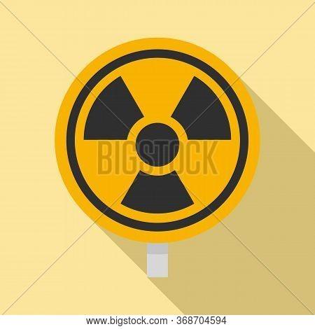 Hazard Radiation Sign Icon. Flat Illustration Of Hazard Radiation Sign Vector Icon For Web Design