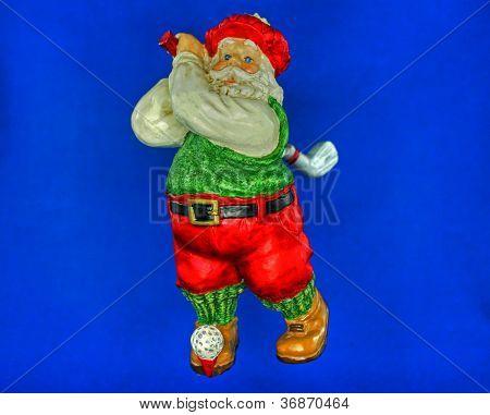 Golfing Santa