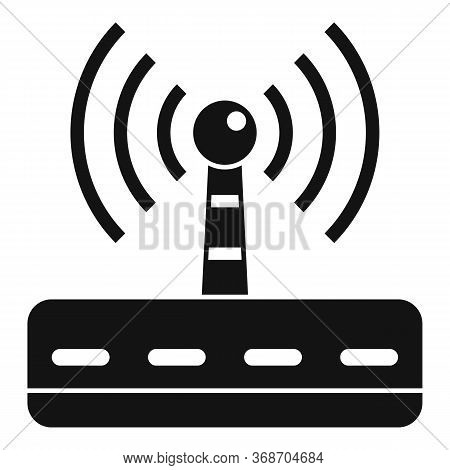 Wifi Router Radiation Icon. Simple Illustration Of Wifi Router Radiation Vector Icon For Web Design