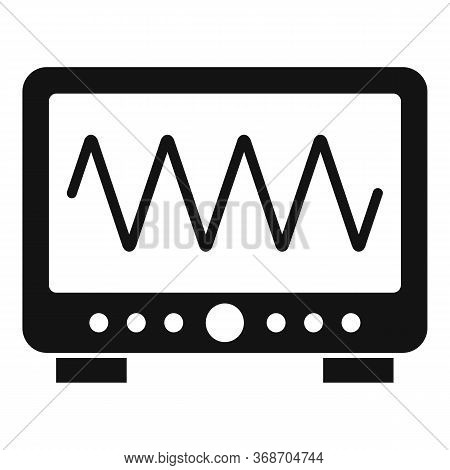 Radiation Wave Device Icon. Simple Illustration Of Radiation Wave Device Vector Icon For Web Design