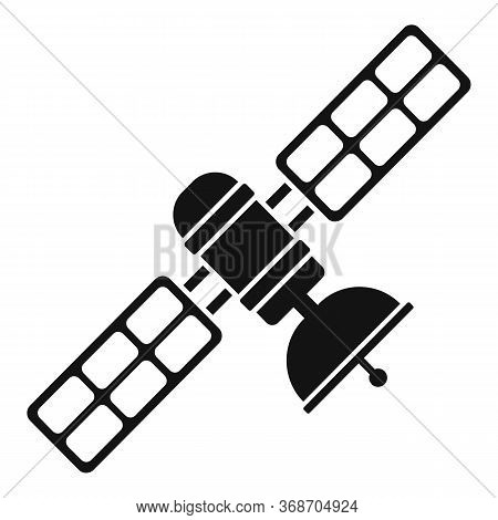 Space Satellite Icon. Simple Illustration Of Space Satellite Vector Icon For Web Design Isolated On