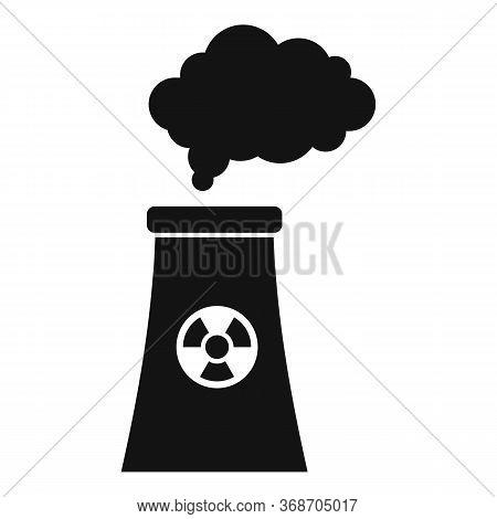 Radiation Smoking Plant Icon. Simple Illustration Of Radiation Smoking Plant Vector Icon For Web Des