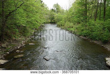 Huntington Creek, In Fishing Creek Township, In Orangeville, Pennsylvania.