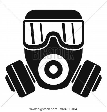 Gas Mask Icon. Simple Illustration Of Gas Mask Vector Icon For Web Design Isolated On White Backgrou