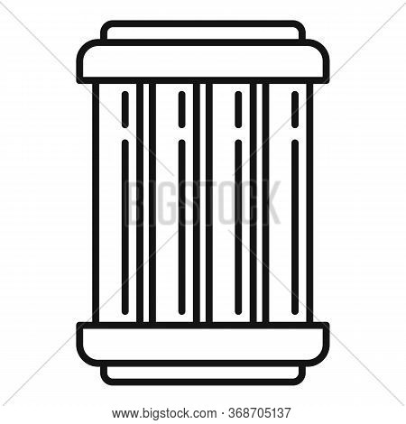 Nuclear Capsule Icon. Outline Nuclear Capsule Vector Icon For Web Design Isolated On White Backgroun