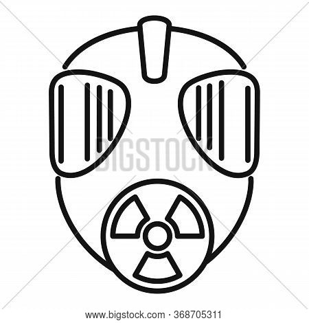 Gas Radiation Mask Icon. Outline Gas Radiation Mask Vector Icon For Web Design Isolated On White Bac