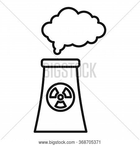 Radiation Smoking Plant Icon. Outline Radiation Smoking Plant Vector Icon For Web Design Isolated On