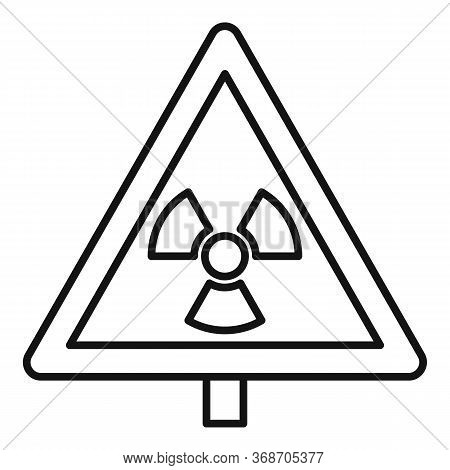 Danger Zone Caution Icon. Outline Danger Zone Caution Vector Icon For Web Design Isolated On White B