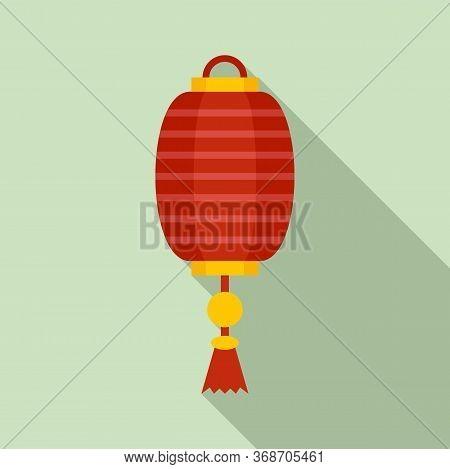 Silk Chinese Lantern Icon. Flat Illustration Of Silk Chinese Lantern Vector Icon For Web Design