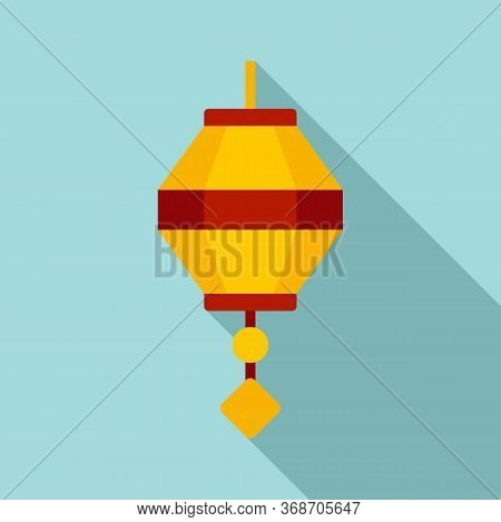Painting Chinese Lantern Icon. Flat Illustration Of Painting Chinese Lantern Vector Icon For Web Des