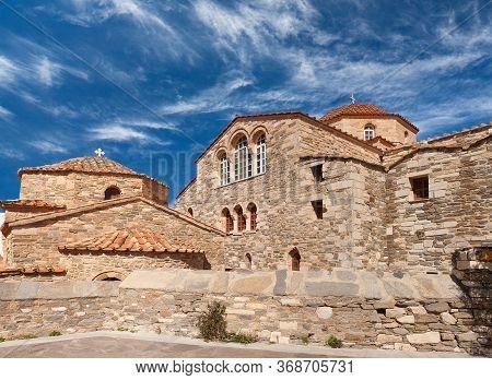 Exterior Of Ancient Monastery Of Panagia Ekatontapiliani In Parikia Town On Paros Island, Cyclades,