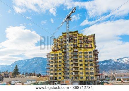 Penticton, British Columbia/canada - February 9, 2018 - Rising Demand For Housing In The Okanagan Va