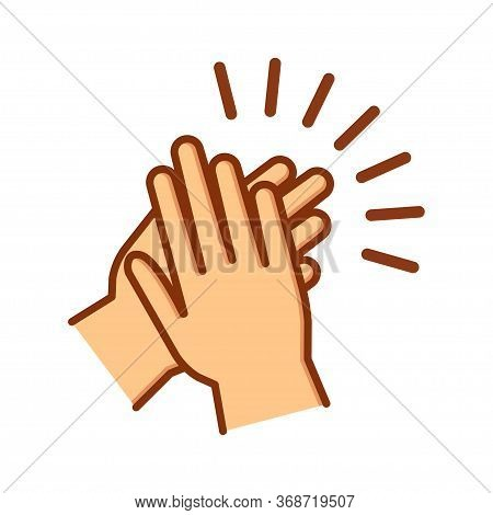 Hands Clapping Icon. Applause Gesture. Vector Illustration
