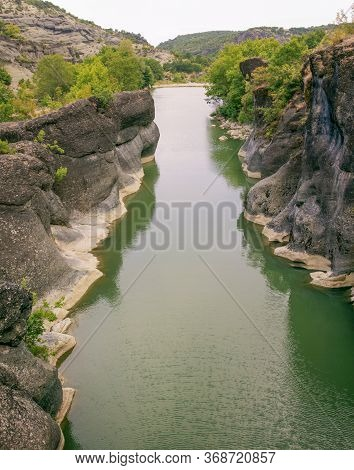 Venetikos River Canyon Or Gorge In Northern Greece