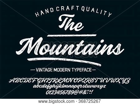 Hand Drawn Typeface Set. Brush Painted Characters: Lowercase And Uppercase.typography Alphabet For Y