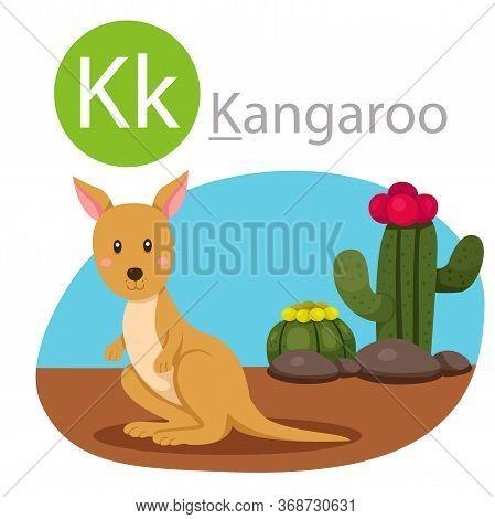 Illustrator Of K For Kangaroo Animal For Kid