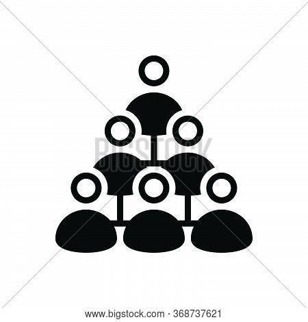 Black Solid Icon For Mlm-marketing Marketing Management Teamwork Multi-level-marketing Business Orga