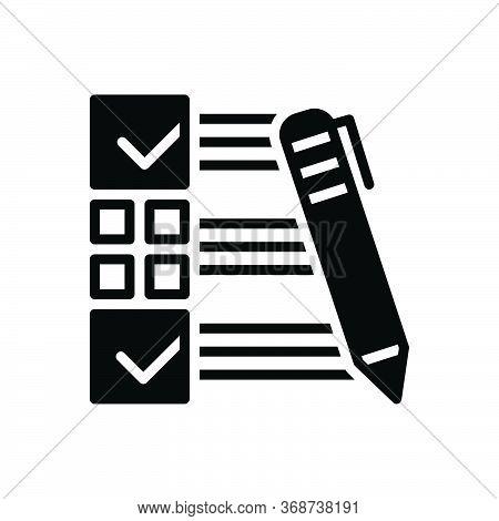 Black Solid Icon For Customer-survey Customer Survey  Customer-satisfaction Evaluate Feedback Checkl