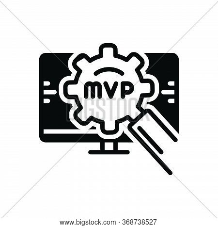 Black Solid Icon For Mvp Competition Danger Explosion Valuable