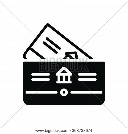 Black Solid Icon For Bankbook Account Deposit Passbook