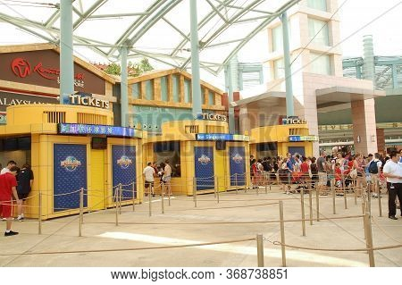 Sentosa, Sg - April 5 - Universal Studios Singapore Ticketing Booths On April 5, 2012 In Sentosa, Si