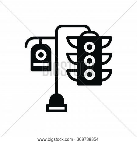 Black Solid Icon For Traffic-light Light Traffic  Stoplight  Semaphore Signal Control Sign