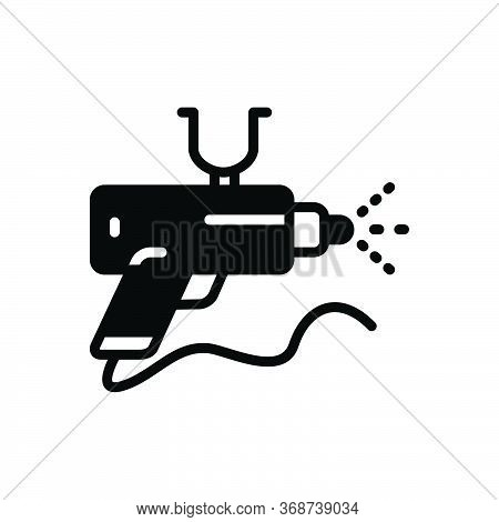 Black Solid Icon For Spray-gun Spray Gun Airbrush Nozzle
