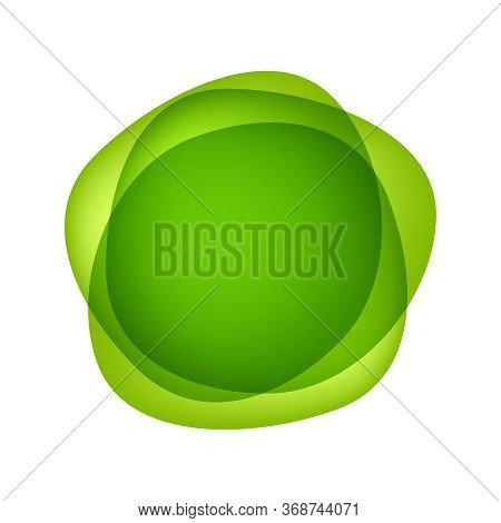 Flat Blob Green Isolated On White For Background, Simple Drop Fluid Shape For Graphic, For Cover Pos