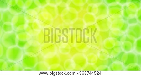 Abstract Bokeh Light Green For Background, Blurred Bokeh Bright Green Nature Beautiful With Shiny Li