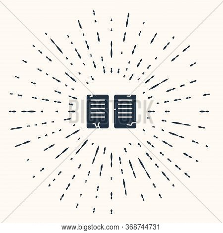 Grey The Commandments Icon Isolated On Beige Background. Gods Law Concept. Abstract Circle Random Do