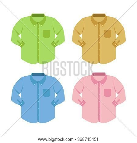 Plain Shirt Clothes Isolated On White, Clothes Pattern Plain Collection Flat Simple, Clip Art Of Clo