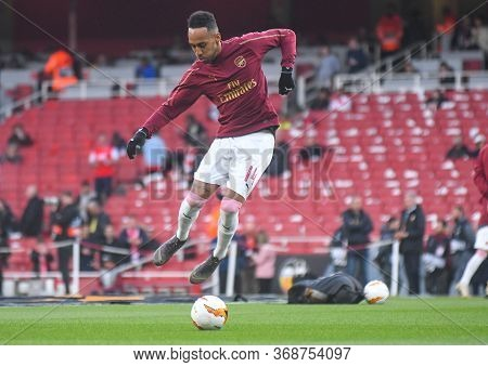 London, England - May 2, 2019: Pierre-emerick Aubameyang Of Arsenal Pictured Ahead Of The First Leg