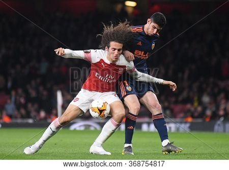 London, England - May 2, 2019: Matteo Guendouzi Of Arsenal Pictured During The First Leg Of The 2018