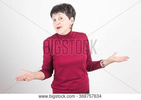 Senior Woman In Perplexity Emotion Ar Studio