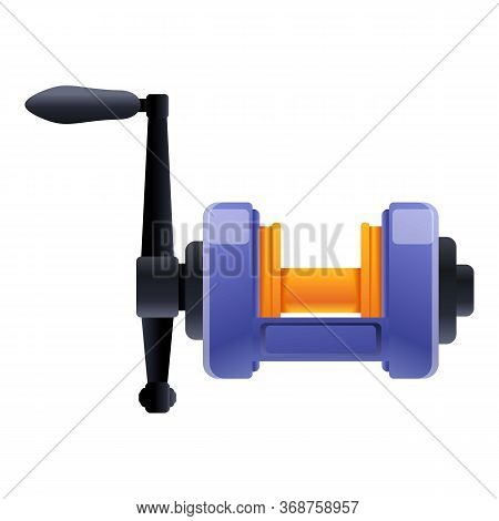 Sport Fishing Reel Icon. Cartoon Of Sport Fishing Reel Vector Icon For Web Design Isolated On White