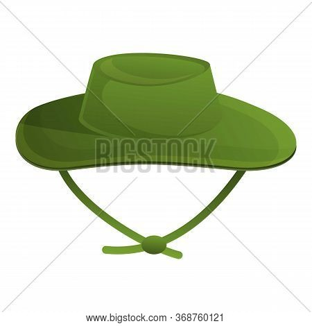Fisherman Hat Icon. Cartoon Of Fisherman Hat Vector Icon For Web Design Isolated On White Background