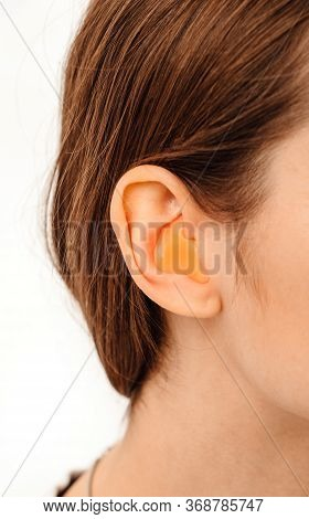 Personally Molded Earplugs. Process Of Making Earplug From An Impression Of An Individual S Woman Ea