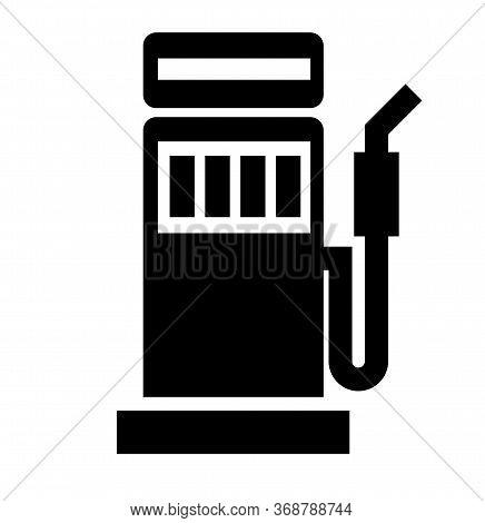 Gasoline Refuel Station Black Icon On White Background